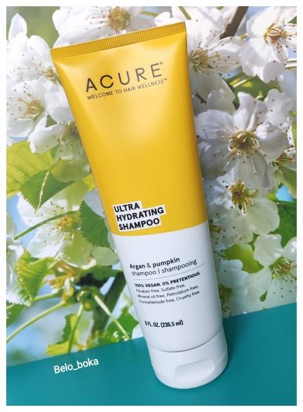 Acure, Ультра-увлажняющий шампунь с аргановым маслом